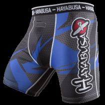 Metaru 47 Silver Compression Shorts - Black/Blue